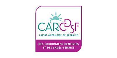 Logo de la CARCDSF Caisse Autonome de Retraite des Chirurgiens Dentistes et des Sages-Femmes