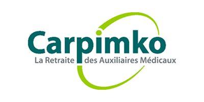 Logo de la CARPIMKO Caisse autonome de retraite et de prévoyance des infirmiers, masseurs kinésithérapeutes, pédicures-podologues, orthophonistes et orthoptistes